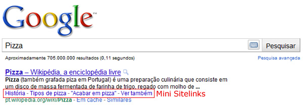 Mini Sitelinks Google