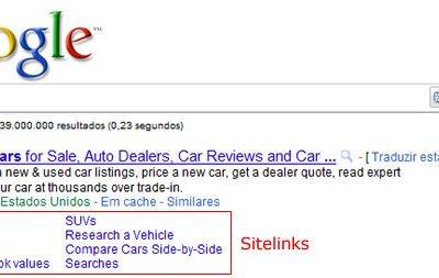 O que são Sitelinks e Mini Sitelinks do Google?