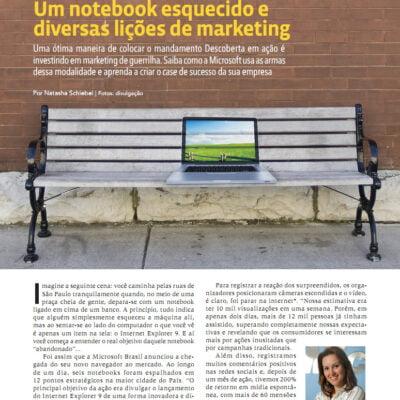 Liderança: Um Notebook Esquecido e Diversas Lições de Marketing