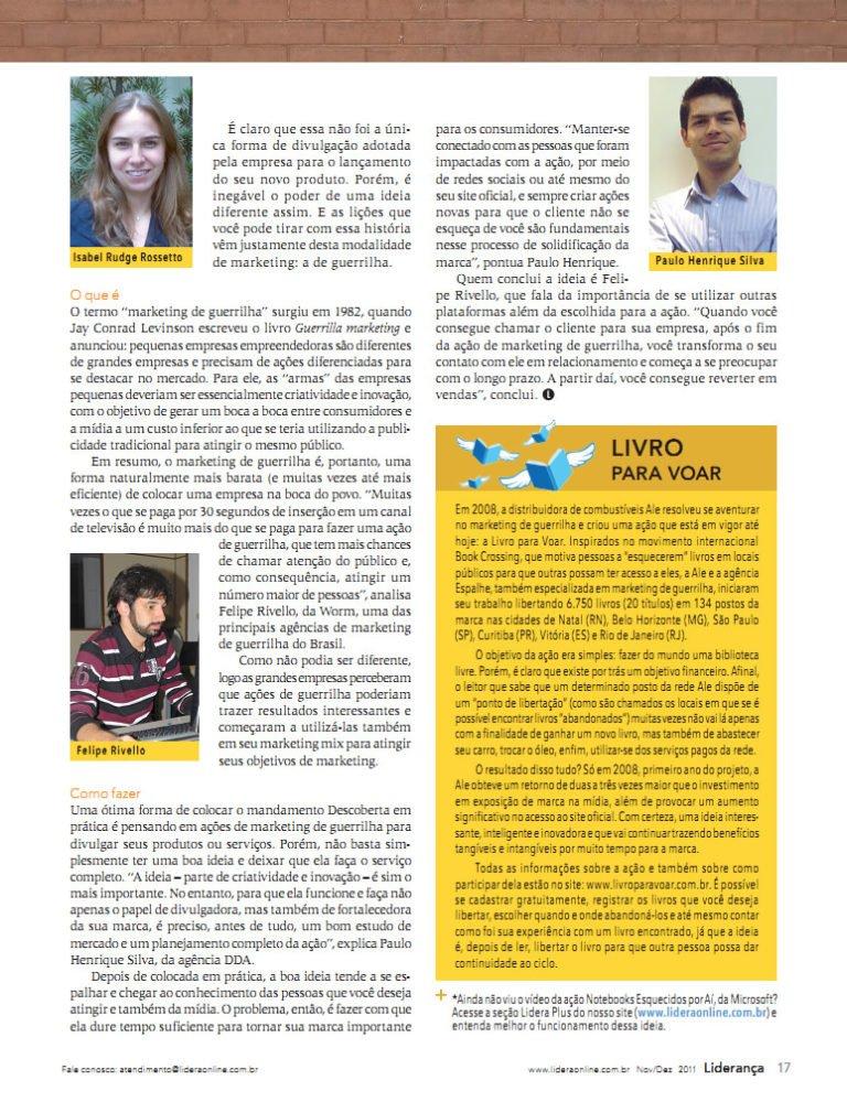 Entrevista Revista Liderança